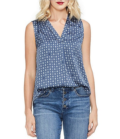 Vince Camuto Geo Accents Blouse