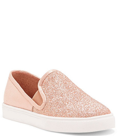 Vince Camuto Girls' Bestina Tiny Glitter Slip On Sneakers Youth