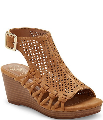 Vince Camuto Girls' Obal Suede Wedge Sandals Toddler
