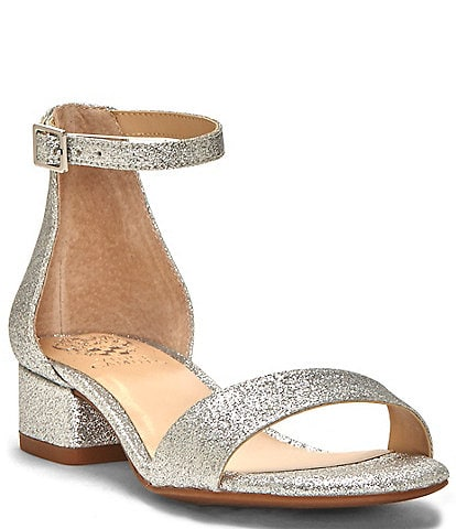 Vince Camuto Girls' Pascala Glitter Ankle Strap Block Heel Sandals Toddler