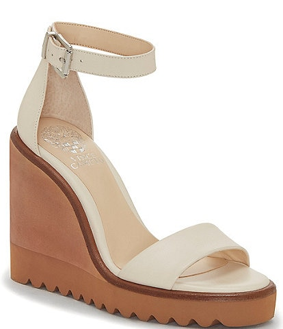 Vince Camuto Gretam Leather Wedge Sandals