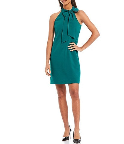 Vince Camuto Halter Neck Sleeveless Shift Dress