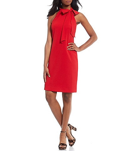 Vince Camuto Halter Neck Shift Dress