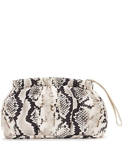 Vince Camuto Harlo Snake Print Washable Pouch