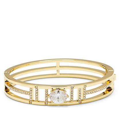 Vince Camuto Gold Hinged Bangle Bracelet