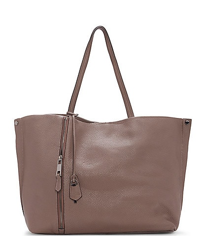 Vince Camuto Jann Textured Leather Snap Tote Bag