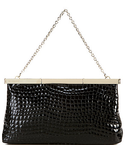 Vince Camuto Jessa Crocodile Embossed Leather Clutch