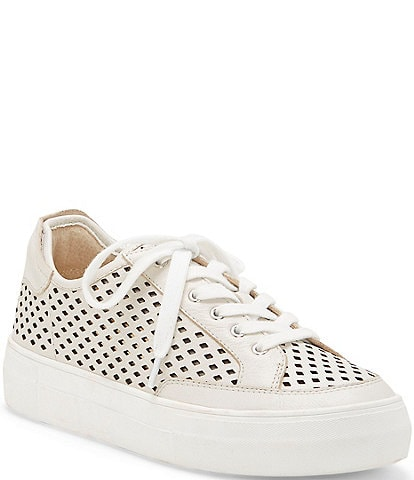 Vince Camuto Karshey Perforated Leather Flatform Sneakers