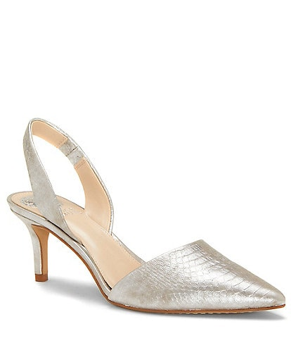 Vince Camuto Kolissa Snake Embossed Slingback Dress Pumps