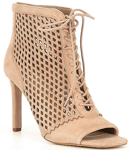 Vince Camuto Lalinda Perforated Suede Shooties