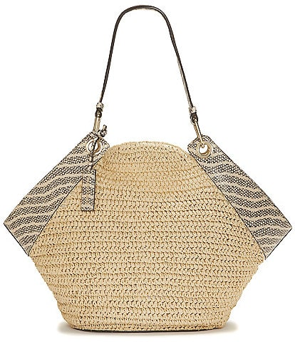 Vince Camuto Lenza Straw Tote Bag