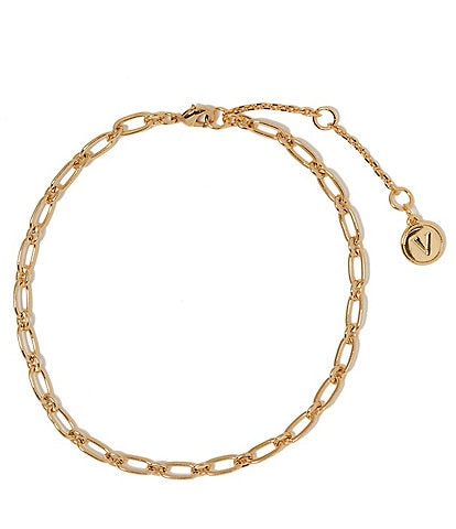 Vince Camuto Long Oval and Round Chain Anklet