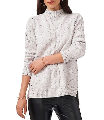 Vince Camuto Long Sleeve Cable Knit Turtleneck Sweater