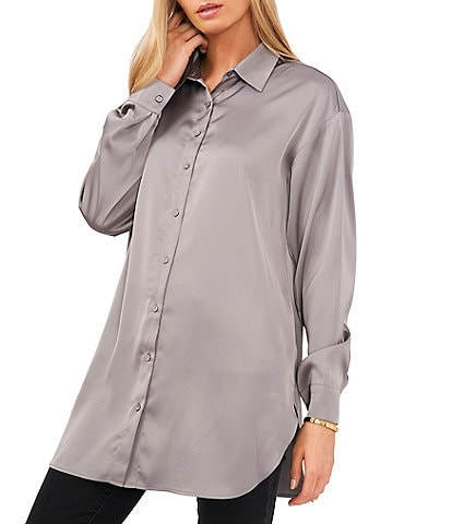 Vince Camuto Long Sleeve Point Collar Button Down Shirt