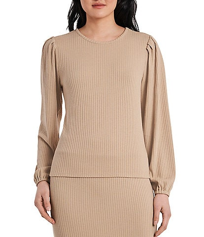 Vince Camuto Long Sleeve Rib Knit Pullover