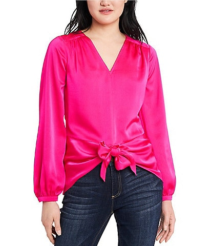 Vince Camuto Long Sleeve Tie Front Blouse