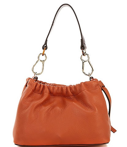 Vince Camuto Leather Drawstring Maxi Crossbody Bag