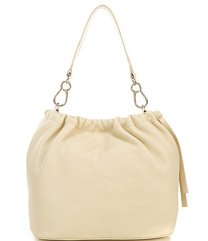 Vince Camuto Leather Drawstring Maxi Tote Bag