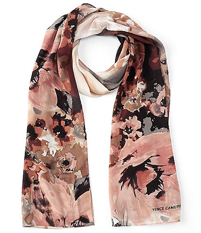 Vince Camuto Midnight Blooms Oblong Scarf