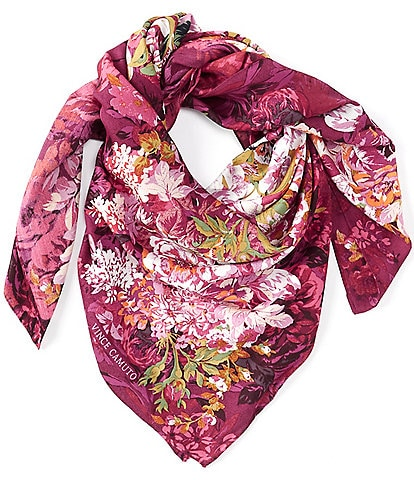 Vince Camuto Mirror Floral Square Scarf