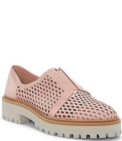 Vince Camuto Mrista Perforated Leather Oxfords