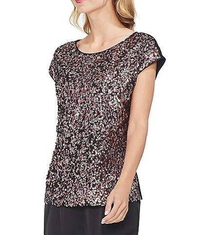 Vince Camuto Multi-Sequin Blouse