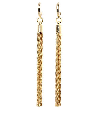 Vince Camuto Museum Huggie Tassel Linear Earrings