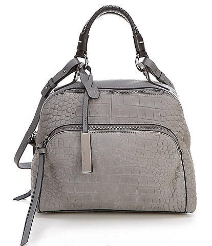 Vince Camuto Myri Embossed Leather Satchel Bag