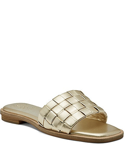 Vince Camuto Nanchia Woven Leather Slides