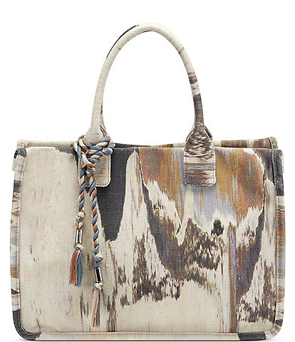 Vince Camuto Orla Neutral Tie Dye Canvas Tote Bag
