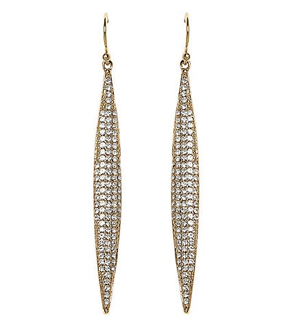 Vince Camuto Pav Spear Linear Drop Earrings
