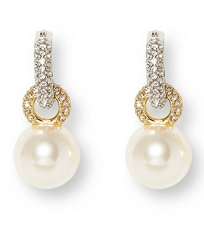 Vince Camuto Pearl Huggie Earrings