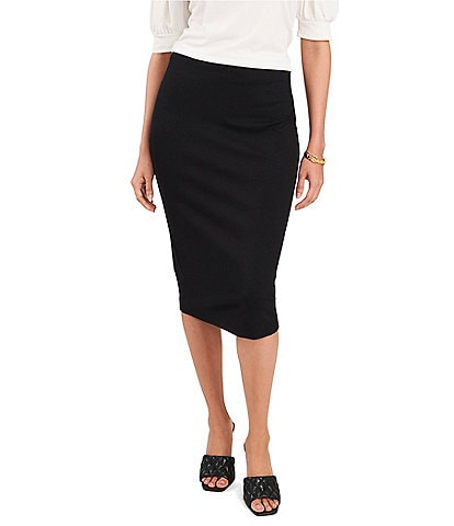Vince Camuto Petite Size High Rise Ponte Pencil Skirt
