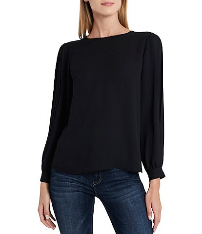 Vince Camuto Pleated Long Sleeve Blouse