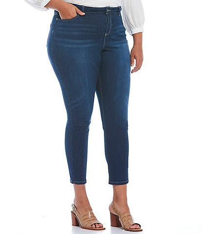 Vince Camuto Plus Size Mid Rise 5-Pocket Skinny Jeans