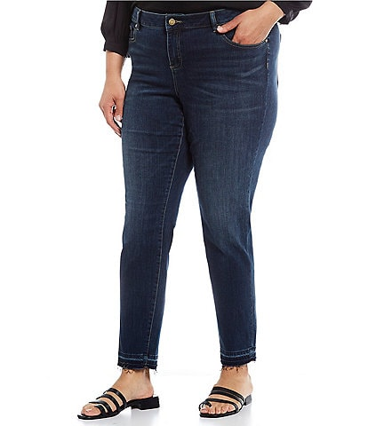 Vince Camuto Plus Size Released Hem Denim Jean
