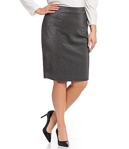 Vince Camuto Plus Size Sparkled Pencil Skirt