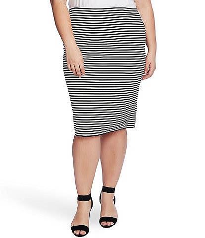 Vince Camuto Plus Size Striped Tube Skirt