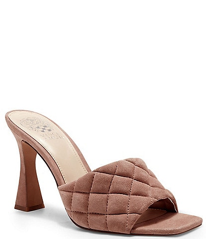 Vince Camuto Reselm Quilted Band Suede Sandals