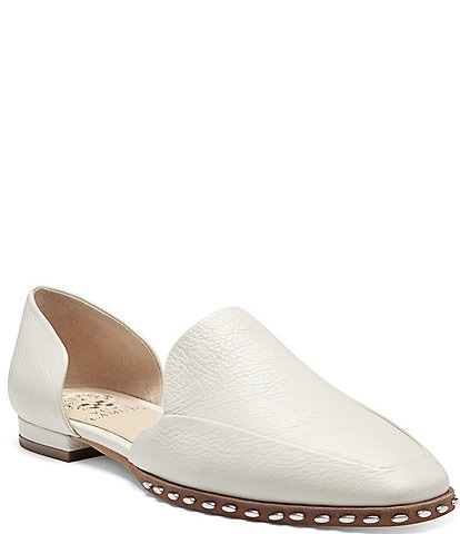 Vince Camuto Rendolen Leather Studded Trim Detail Loafers