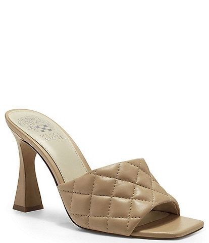 Vince Camuto Reselm Quilted Leather Mules
