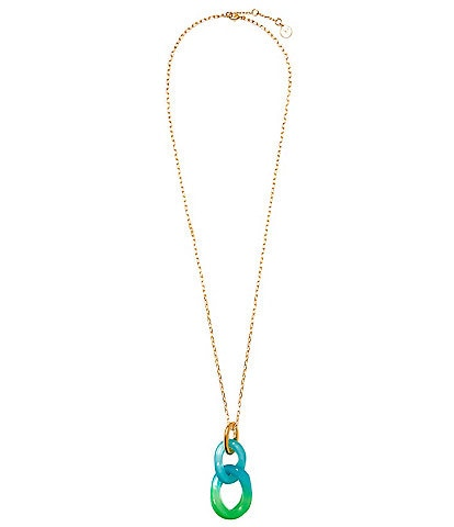 Vince Camuto Resin Curb Link Pendant Necklace