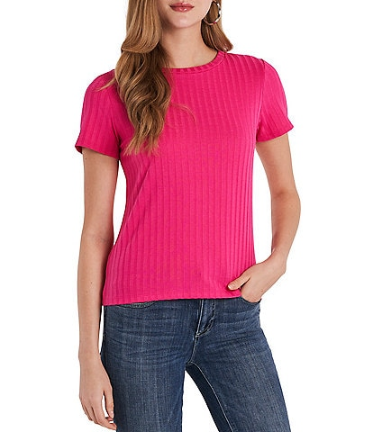 Vince Camuto Ribbed Knit Cap Sleeve Top