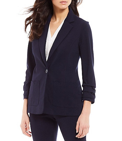 Vince Camuto 3/4 Ruched Sleeve Jacket