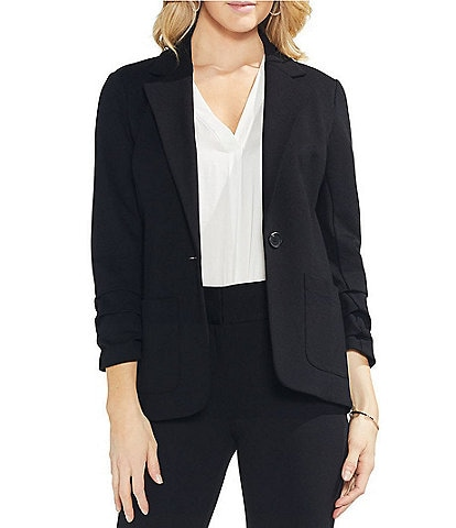 Vince Camuto Ruched Sleeve Jacket