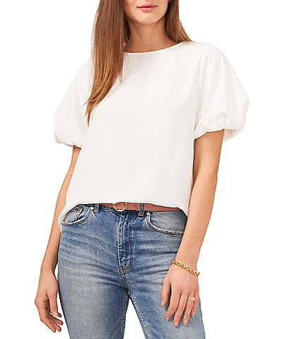 Vince Camuto Short Puff Sleeve Blouse