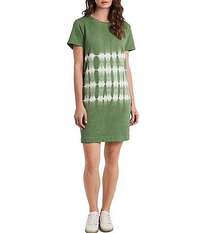Vince Camuto Short Sleeve Tie Dye Round Neck T-Shirt Dress
