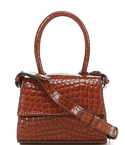 Vince Camuto Silva Crocodile Embossed Leather Crossbody Bag