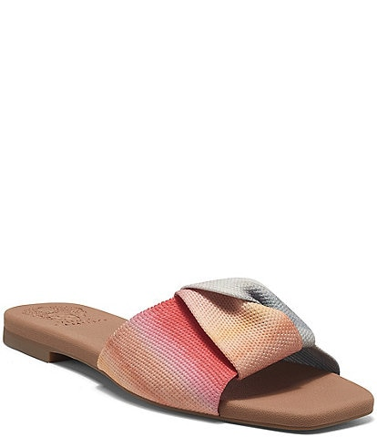 Vince Camuto Skylinna Washable Stripe Knit Knotted Flat Sandals