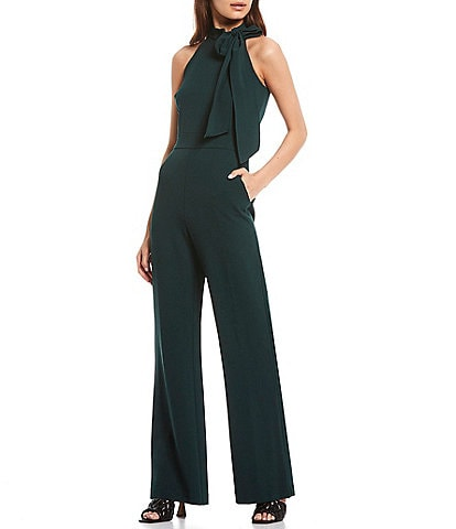 Vince Camuto Sleeveless Bow Neck Jumpsuit with Pockets
